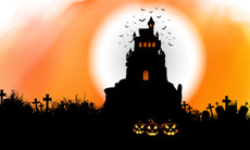 3'x5' Halloween Haunted House Flag