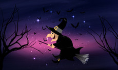 3'x5' Halloween Flying Witch Flag