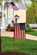 Tea Stained American Garden Flag
