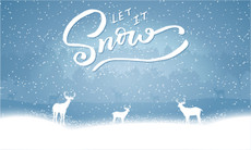 3'x5' Let It Snow Flag - Deer