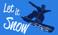 3'x5' Let It Snow Flag - Snowboarder