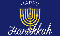 3'x5' Happy Hanukkah Flag