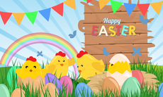 3'x5' Easter Chicks Flag