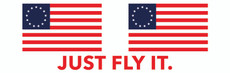 JUST FLY IT Betsy Ross Bumper Sticker