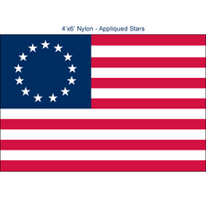 Betsy Ross Flags - 4'x6' Premium Nylon