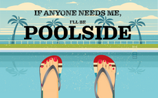If Anyone Needs Me, I'll be Poolside, Summer 3X5 Flag