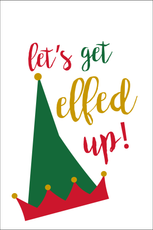 Elfed Up Festive Garden Flag