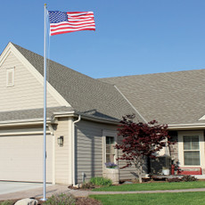3 Section Tapered Flagpole 20' -Clear