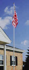 18' Aluminum Flagpole Kit with Colonial White Finish