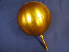 "8 Inch Gold Ball Ornament (1/2"" - 13NC)"
