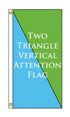 Two Triangle Vertical Attention Flag