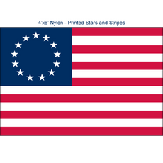Betsy Ross Flags - 4'x6' Outdoor Nylon
