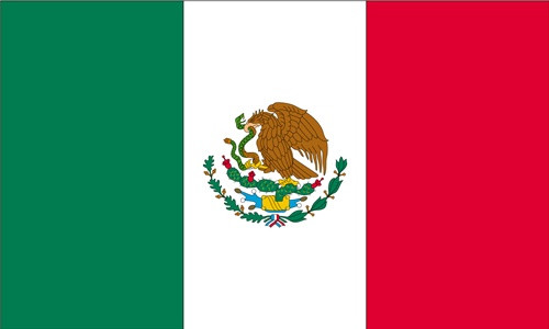 Mexico 3 X5 Light Weight Polyester Flag
