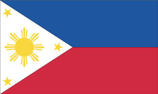 "Philippines - 4""x6"" Handheld Flags, set of 6"