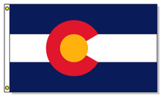 Colorado State Flags - 3'x5' Light Weight Polyester