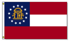 Georgia State Flags - 3'x5' Light Weight Polyester