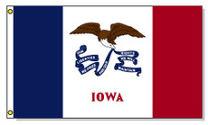 Iowa State Flags - 3'x5' Light Weight Polyester