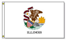 Illinois State Flags - 3'x5' Light Weight Polyester