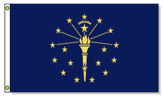Indiana State Flags - 3'x5' Light Weight Polyester