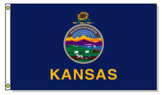 Kansas State Flags - 3'x5' Outdoor Nylon