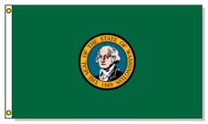 "Washington State Flags - 4"" x 6"" Handheld Flags, set of 6"