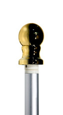 Aluminum Pole with Gold Ball Bearing