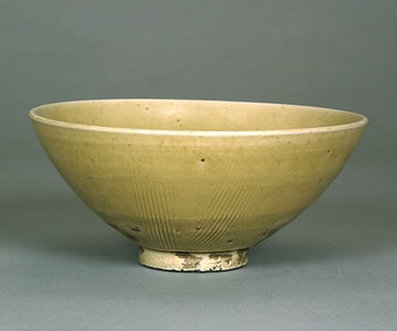 antique chinese celadon tea bowl