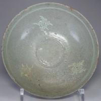 sale: Antique Korean Inlaid Celadon Pottery Bowl #2430