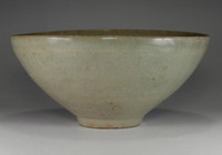 sale: Antique light green Korean celadon pottery bowl