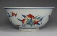sale: Chinese doucai bowl w Yongzheng official porcelain mark