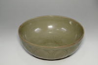 sale: Antique Chinese olive green longquan pottery bowl