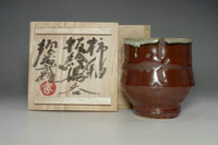 sale: Yunomi by Sudo Takeo / pupil of Hamada Shoji / Pottery cup in Mashiko ware