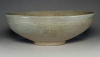sale: Antique Korean Inlaid Celadon Pottery Bowl