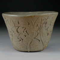 sale: Otagaki Rengetsu poem carved pottery Cup
