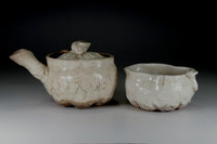 sale: Antique Pottery Tea Pot and YUZAMASHI Cup by Otagaki Rengetsu