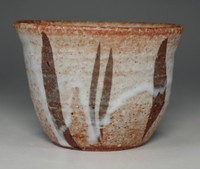 sale: Guinomi - Japanese shino pottery alcohol cup by Rosanjin
