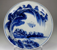sale: Old Imari - Antique Japanese Blue and White Porcelain Plate
