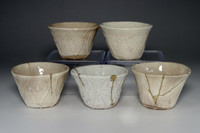 sale: 5 set of Antique Japanese Pottery Cups by Otagaki Rengetsu