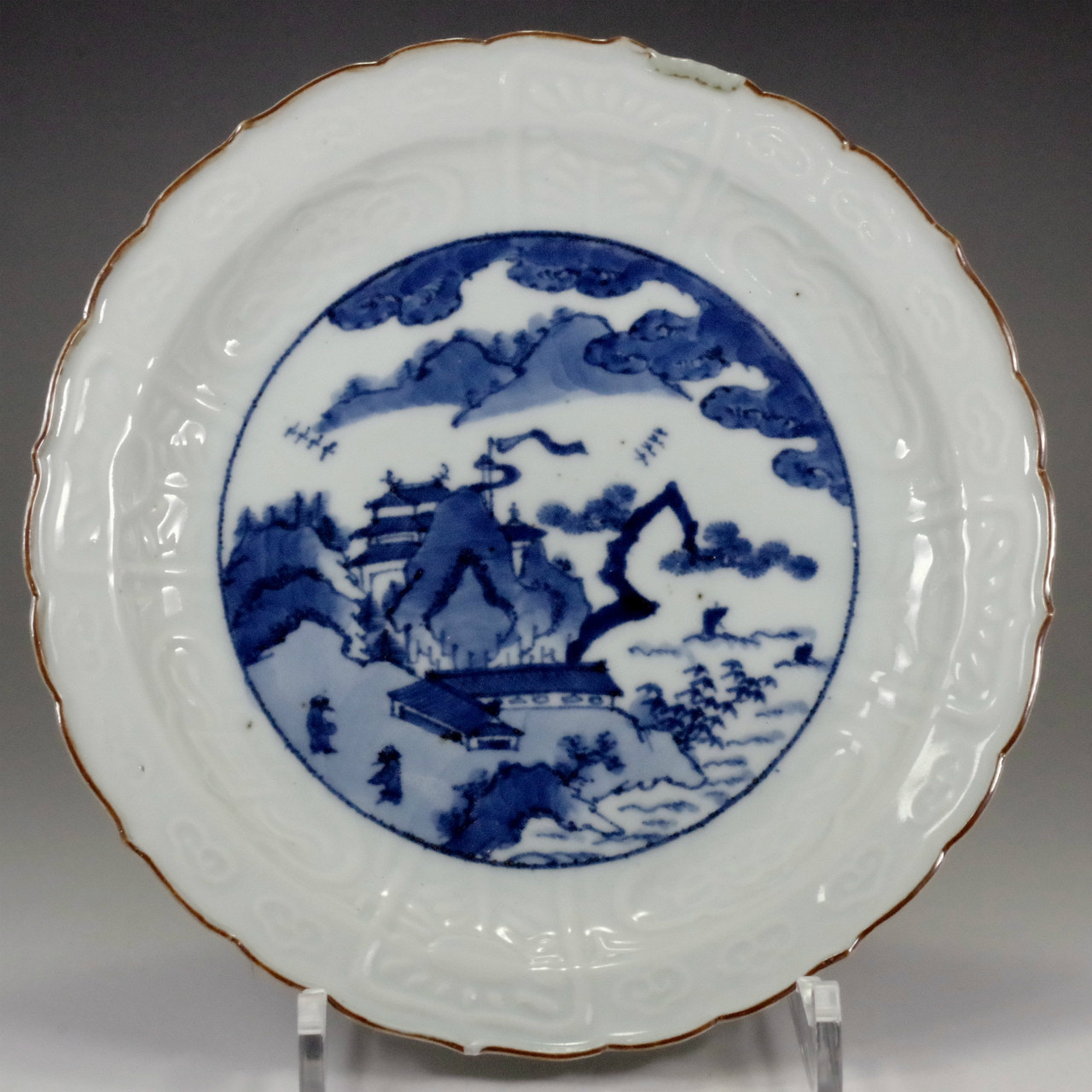 Old Imari - Antique Japanese Blue and White Porcelain Plate in Edo Era #8
