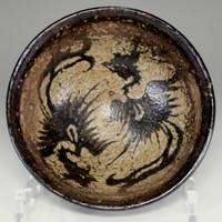 sale: Antique Tenmoku bowl / phoenixes