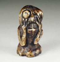 "sale: Netsuke / Antique miniature curving ""Yokai Dorotabo"" / antler"