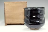 sale: Kuro-raku tsutsu chawan