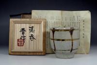 sale:  Hamada Shinsaku mashiko yunomi