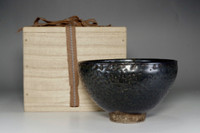 sale: Kato Shuntai antique setoguro tea bowl