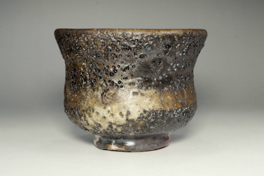 sale: Vintage oni-shino pottery tea bowl by Tsukigata Nahiko
