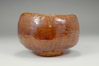 sale: 'Ame-yu chawan' pottery aka-raku tea bowl