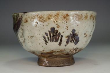 sale: Kato Shuntai 'oribe chawan' tea bowl