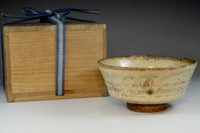 sale: Kato Shuntai 'kizeto chawan' tea bowl #3014