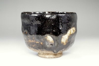 sale: 10th Raku Tannyu antique 'kuro raku chawan' tea bowl