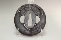 sale: Antique 'tsuba' iron samurai sword guard